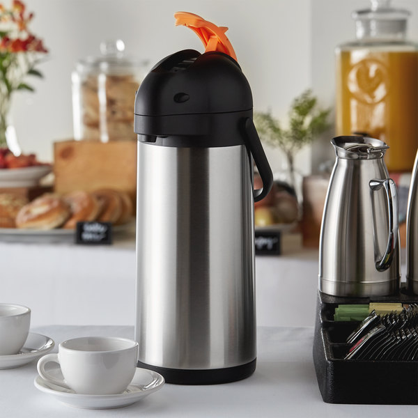 Choice 3 Liter Stainless Steel Lined Decaf Airpot with Lever Main Image 5