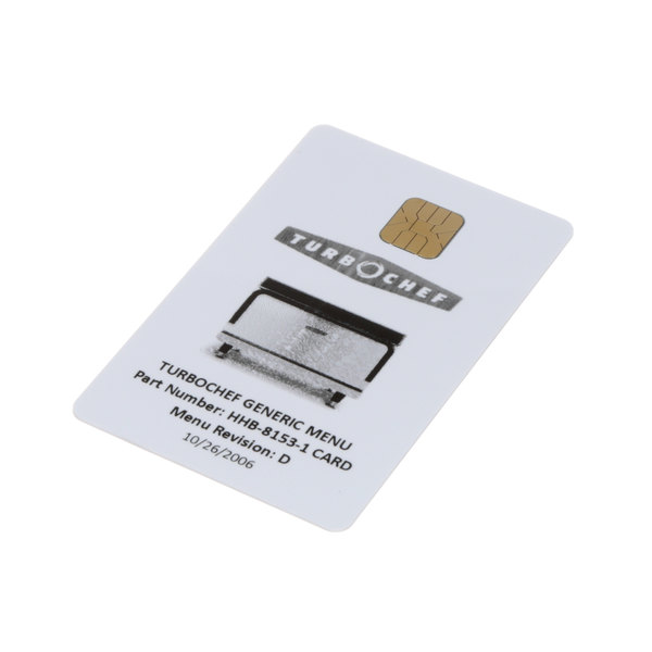 TurboChef HHB-8153-1 Menu Card Hhb Program