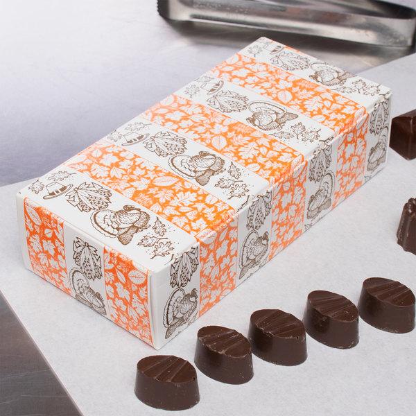"7 1/8"" x 3 3/8"" x 1 7/8"" 1-Piece 1 lb. Thanksgiving Candy Box - 250/Case Main Image 6"