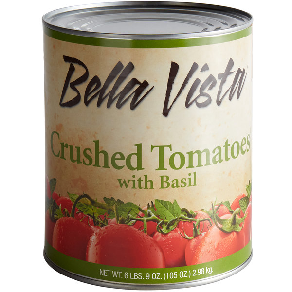 Bella Vista #10 Can Crushed Tomatoes with Basil - 6/Case Main Image 1