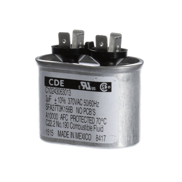 Manitowoc Ice 8504583 Run Capacitor 3mfd 370v 60hz