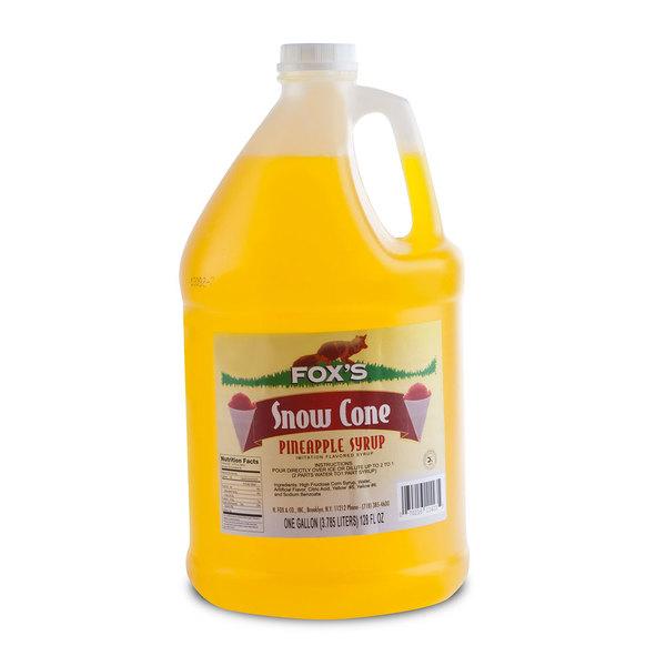 Fox's Pineapple Snow Cone Syrup 1 Gallon