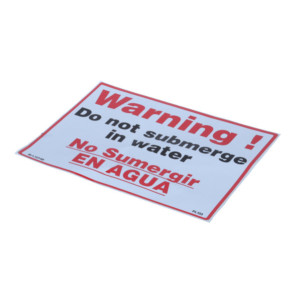 HK Dallas M-1-27-68 Do Not Submerge Decal
