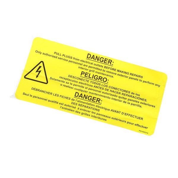 Garland / US Range 4522374 Label, Pull Plugs