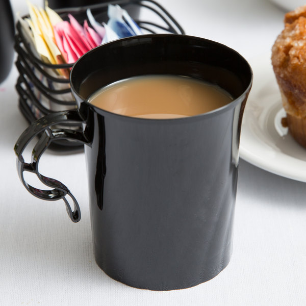 WNA Comet CWM8192BK Classicware 8 oz. Black Plastic Coffee Cup - 192/Case