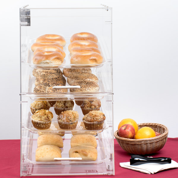 4 Tray Bakery Display Case with Front and Rear Doors