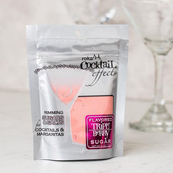 Rokz Triple Berry Cocktail Rim Sugar - 5 oz.