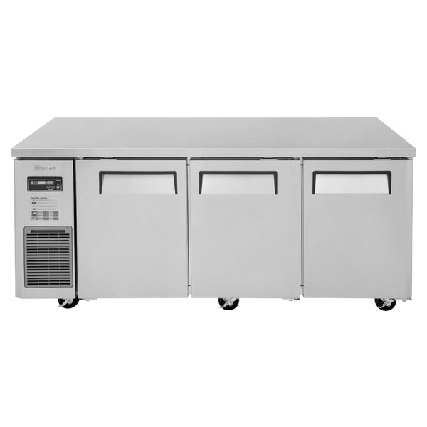 "Turbo Air JUR-72 J Series 72"" Solid Door Undercounter Refrigerator with Side Mounted Compressor"