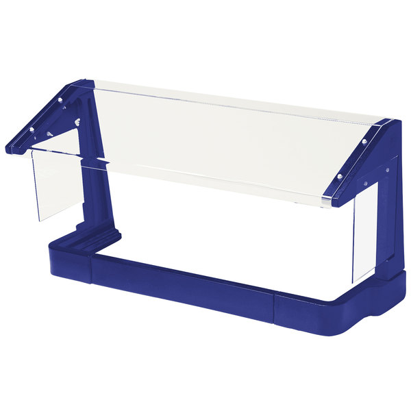 Cambro FSG480186 4' Navy Blue Free-Standing Sneeze Guard Main Image 1