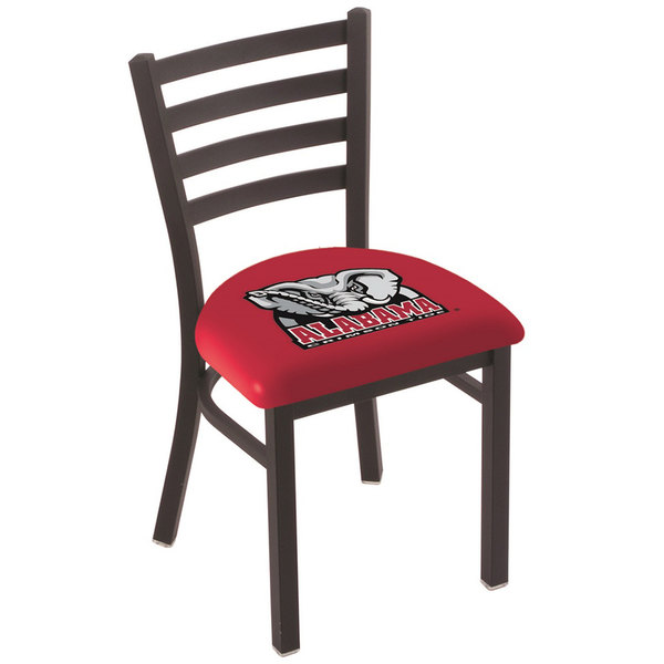 Holland Bar Stool L00418AL-Ele Black Steel University of Alabama Chair with Ladder Back and Padded Seat Main Image 1
