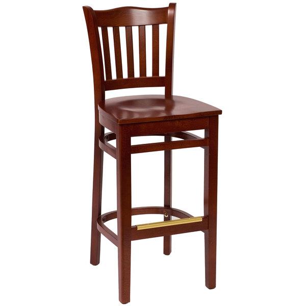 BFM Seating LWB7218MHMHW Princeton Mahogany Beechwood School House Bar Height Chair