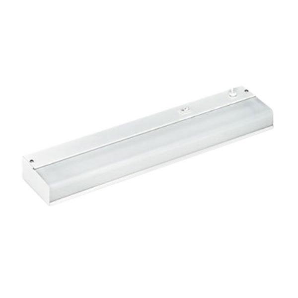 """Ledu LEDL9011 18 1/4"""" x 4"""" White Steel Under-Cabinet Fluorescent Fixture"""