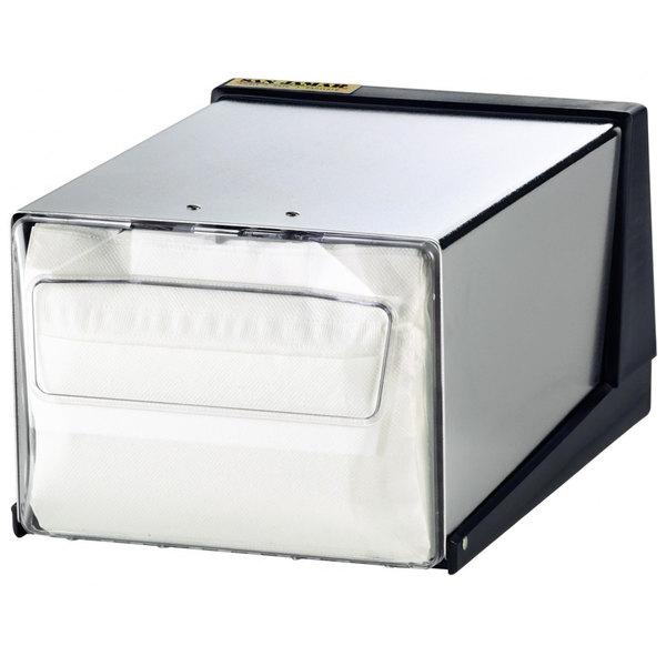 San Jamar H3001CLXC Fullfold Countertop Napkin Dispenser - Clear Face with Chrome Body Main Image 1
