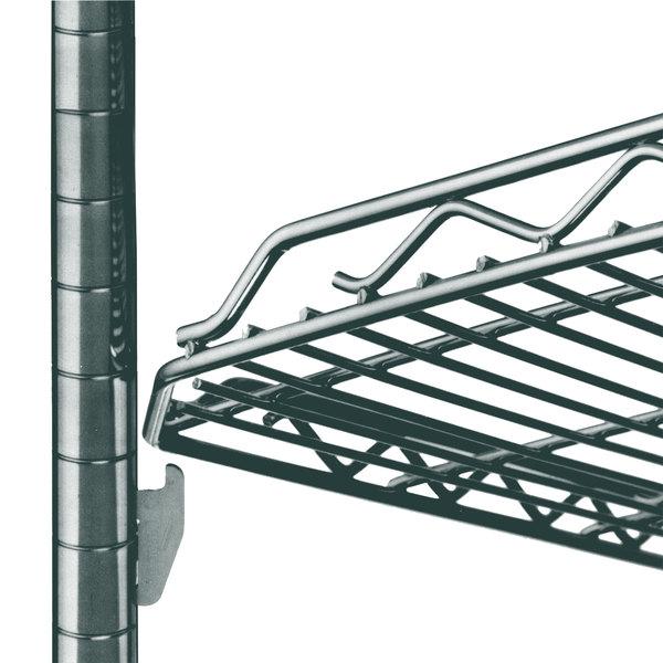 "Metro HDM1436Q-DSG qwikSLOT Drop Mat Smoked Glass Wire Shelf - 14"" x 36"""