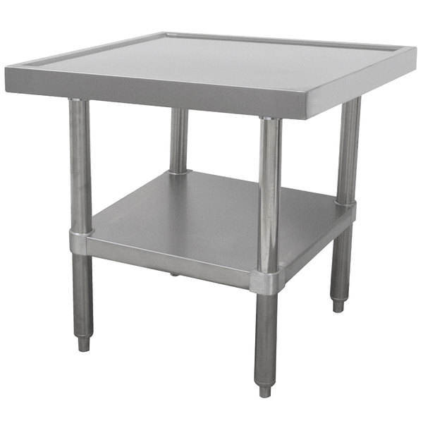 """Advance Tabco MT-SS-242 24"""" x 24"""" Stainless Steel Mixer Table with Undershelf"""