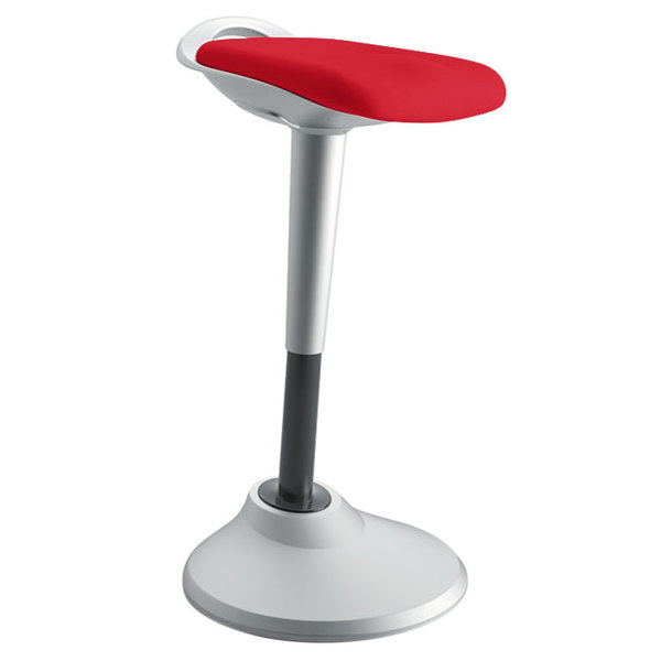 HON VLPERCHAS42X Basyx Red Perch Stool with Silver Base