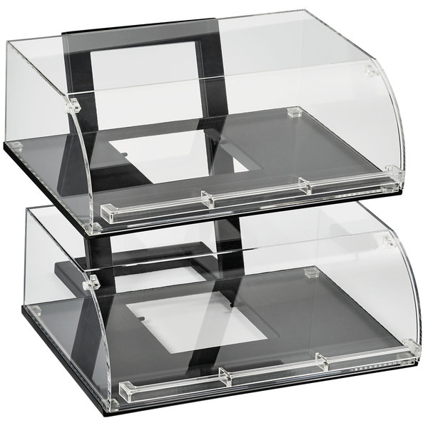 Vollrath ANBCF 06 Cubic Two Tier Full Size Angled Acrylic Pastry Display  Case With Front Doors, ...