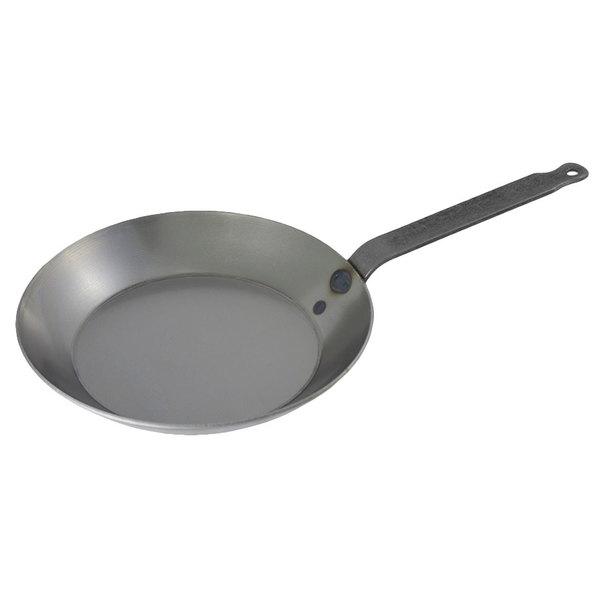 "Matfer Bourgeat 062002 9 1/2"" Black Carbon Steel Fry Pan"