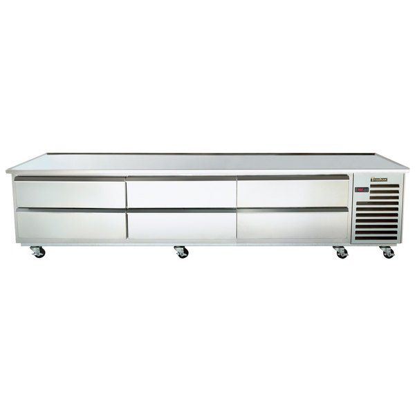 """Traulsen TE110HT 6 Drawer 110"""" Refrigerated Chef Base - Specification Line Main Image 1"""