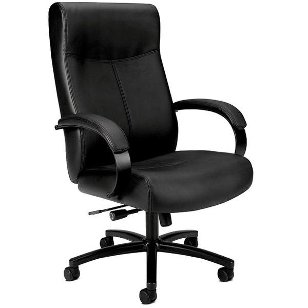 basyx vl685sb11 big   tall black leather office chair