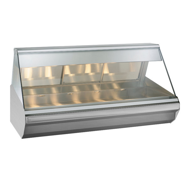 """Alto-Shaam EC2-72 S/S Stainless Steel Heated Display Case with Angled Glass - Full Service 72"""""""