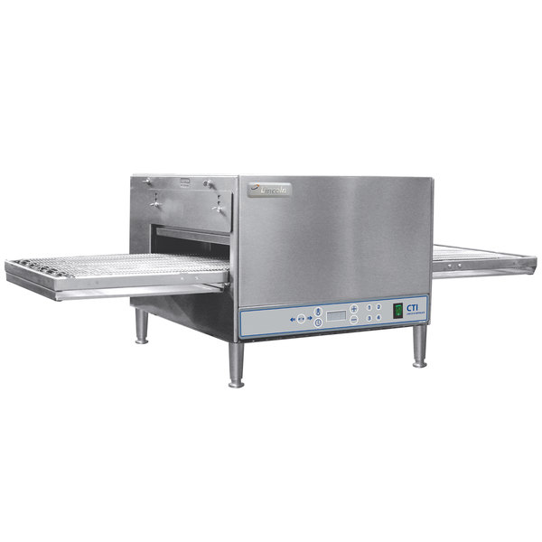 "Lincoln V2500-1 50"" Ventless Digital Single Belt Electric Countertop Conveyor Oven Package - 208V, 3 Phase, 6 kW"