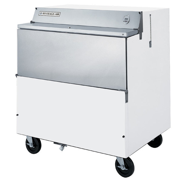"""Beverage-Air SMF34Y-1-W 34"""" White 1-Sided Forced Air Milk Cooler"""