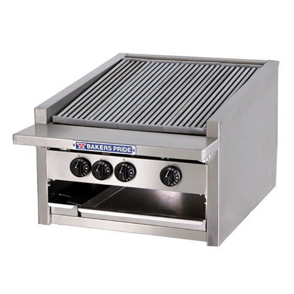 "Bakers Pride L-48GS Natural Gas 48"" Low Profile Glo Stone Charbroiler - 198,000 BTU Main Image 1"