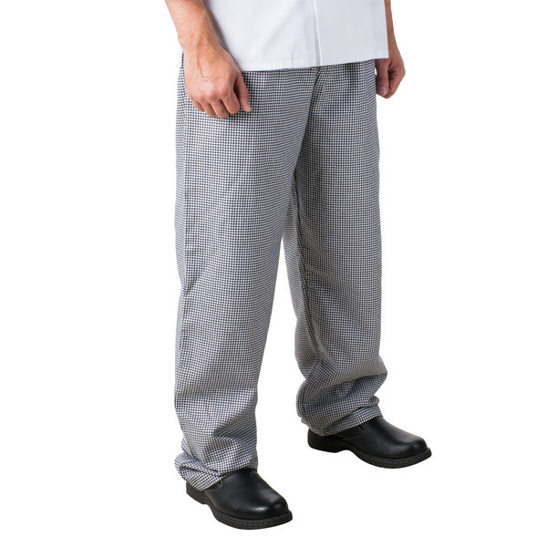 "Mercer Culinary M61050HTS Genesis Unisex 28"" S Hounds Tooth 100% Cotton Chef Pants"