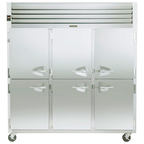 Traulsen G31001 3 Section Half Door Reach In Freezer - Left / Left / Right Hinged Doors Main Image 1