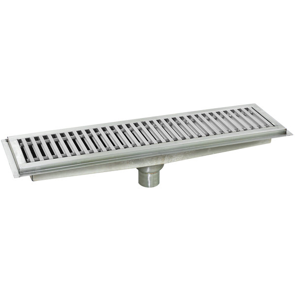 """Eagle Group FT-1248-SG 12"""" X 48"""" Floor Trough With"""