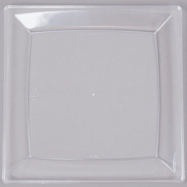 WNA Comet MS6CL 5 1/4 inch Clear Square Milan Plastic Dessert Plate - 168/Case