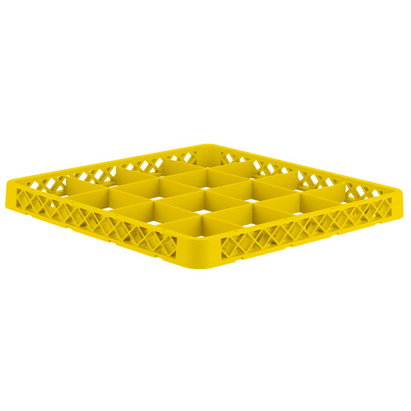 Vollrath CRD-08 Traex® 16 Compartment Yellow Full-Size Closed Wall Extender Main Image 1