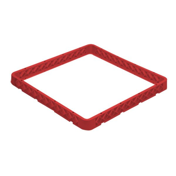 Vollrath CRG-02 Traex® 20 Compartment Full-Size Red Closed Wall Glass Rack Extender