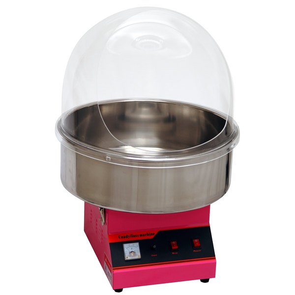 Benchmark USA 81011 Zephyr Cotton Candy Machine with 21 inch Stainless Steel Bowl and Dome - 120V, 900W