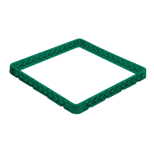 Vollrath CRF-19 Traex® 9 Compartment Full-Size Green Closed Wall Glass Rack Extender Main Image 1