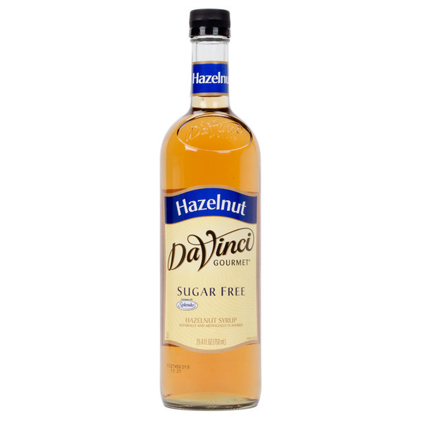 DaVinci Gourmet 750 mL Sugar Free Toasted Hazelnut Flavoring Syrup