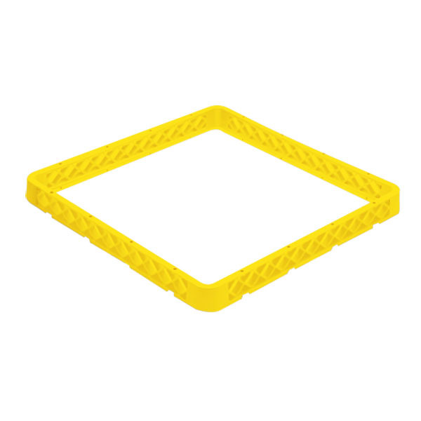Vollrath CRJ-08 Traex® 12 Compartment Full-Size Yellow Closed Wall Extender