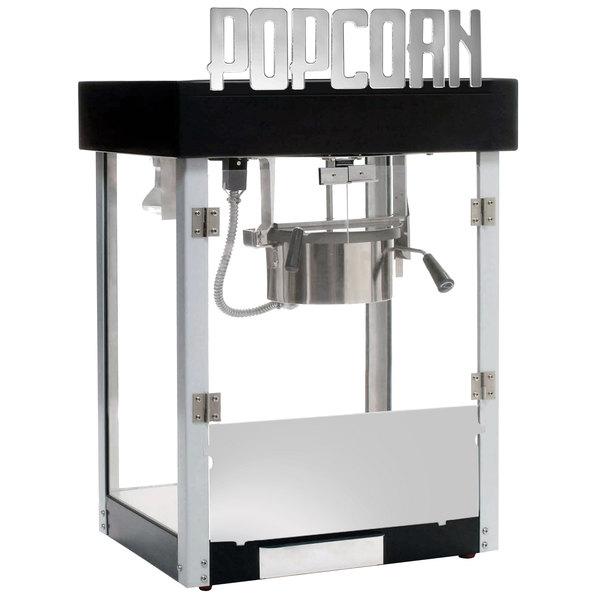 Benchmark USA 11065 Metropolitan 6 oz. Black Popcorn Machine - 120V ...