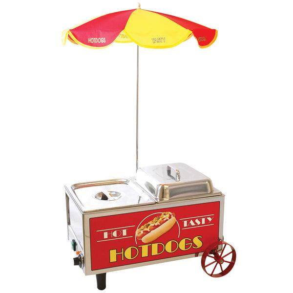 Benchmark USA 60072 60 Dog / 30 Bun Mini Hot Dog Cart - 120V, 1200W Main Image 1