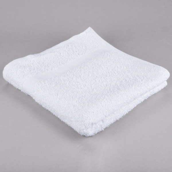 24 inch x 50 inch 100% Open End Cotton Hotel Bath Towel 10.5 lb.  - 12/Pack