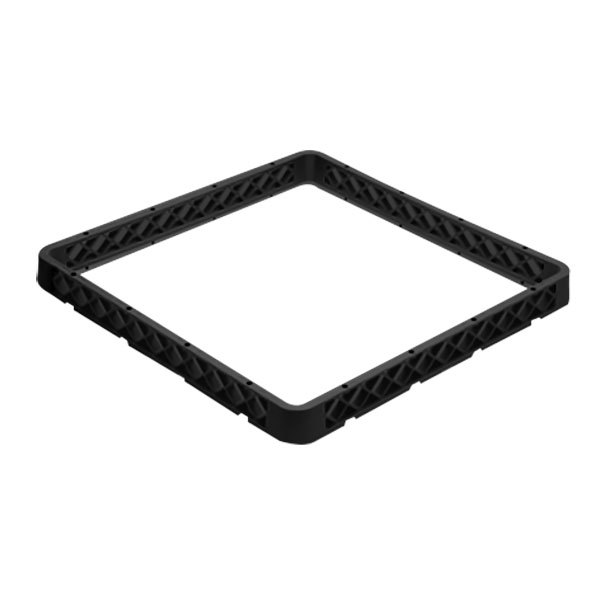 Vollrath CRF-06 Traex® 9 Compartment Full-Size Black Closed Wall Glass Rack Extender
