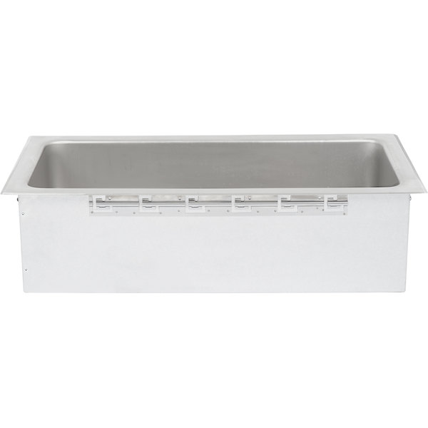 APW Wyott CFW-43D Insulated One Pan 4/3 Size Cold Food Well with EZ Lock and Drain