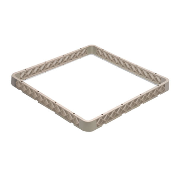 Vollrath CRF Traex® 9 Compartment Full-Size Beige Closed Wall Glass Rack Extender