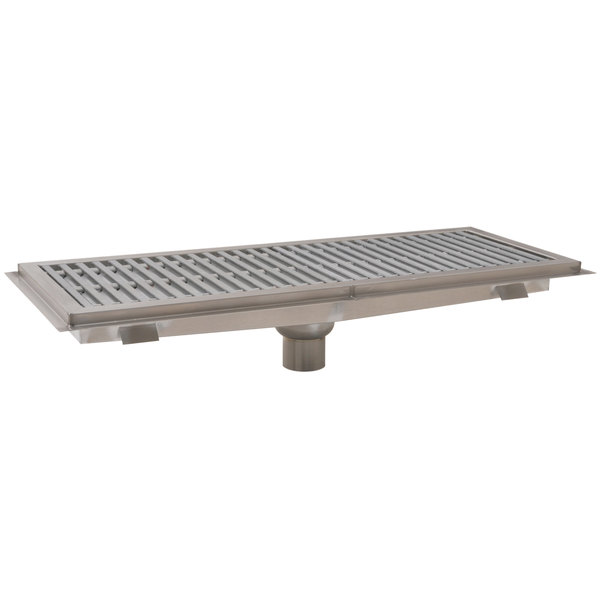 """Eagle Group FT-1848-FGG 18"""" x 48"""" Floor Trough with Gray Fiberglass Grating"""
