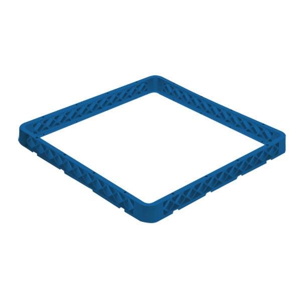 Vollrath CRF-44 Traex® 9 Compartment Full-Size Royal Blue Closed Wall Glass Rack Extender Main Image 1