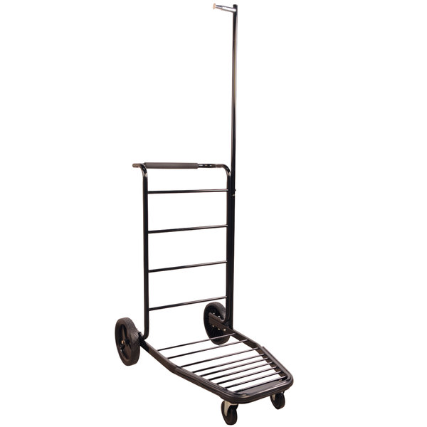 """CSL 8300-LAB 37 1/2"""" x 23 1/2"""" x 73"""" Lug-A-Bout Black Luggage Cart with Casters"""