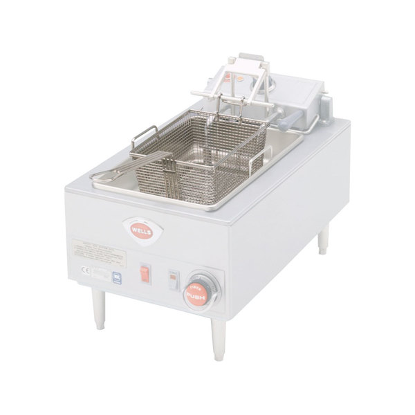 """Wells 20162 10"""" x 7 3/4"""" x 5 5/16"""" Full Size Fryer Basket with Front Hook"""