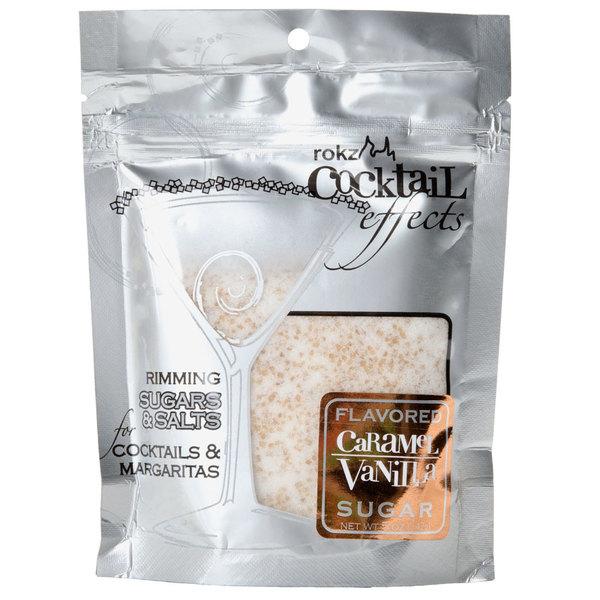 Rokz Caramel Vanilla Cocktail Rim Sugar - 5 oz.