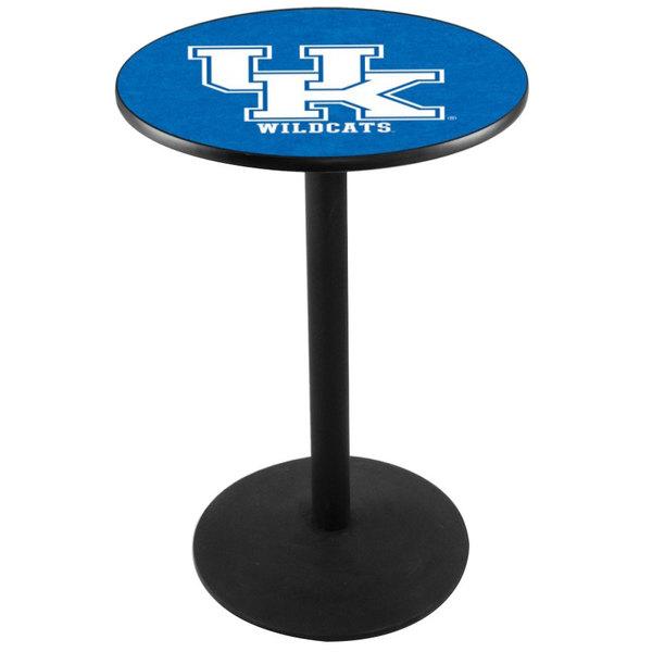 """Holland Bar Stool L214B36UKY-UK 28"""" Round University of Kentucky Pub Table with Round Base"""
